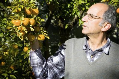 Mark Dymiotis in his garden